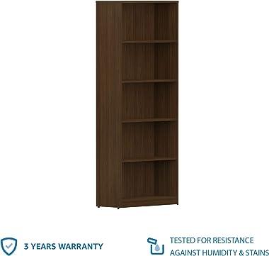 Amazon Brand - Solimo Pavo Engineered Wood Bookcase ,Walnut Finish,Set Of 1,Mahogany