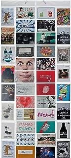 Fotogordijn XXL fotogordijn met 40 vakken voor 80 foto's 10 x 15 cm ansichtkaarten motiefkaarten - douchegordijn fotogaler...