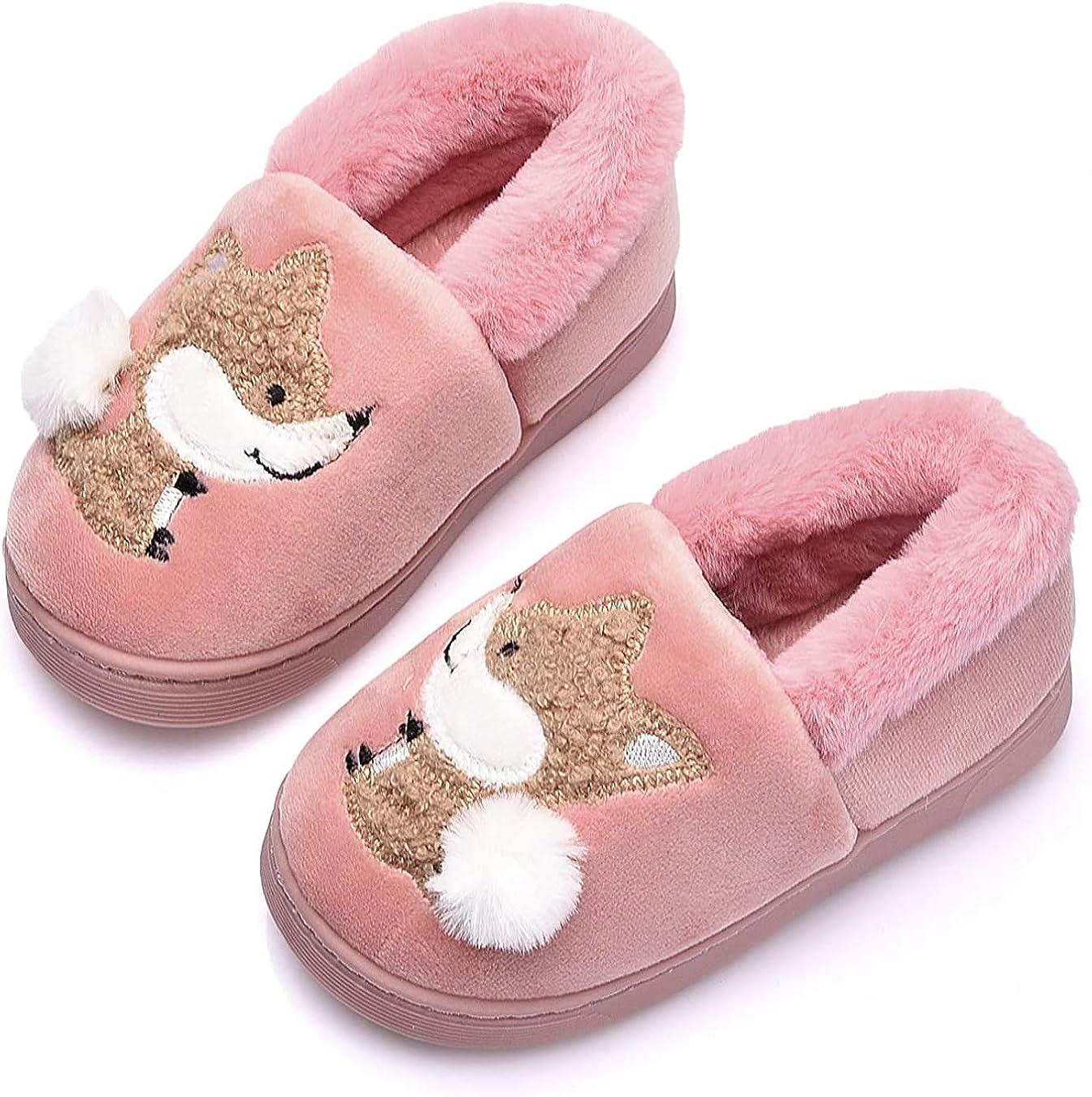 THAIHOEY Boys Girls Toddler House Slippers Warm Winter Slippers