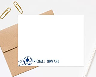 Personalized Soccer Stationery for Kids, Personalized Stationary Set, Football Stationary Card, Sports Camp Stationary