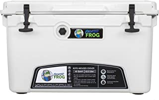 Frosted Frog White 45 Quart Ice Chest Heavy Duty High Performance Roto-Molded Commercial Grade Insulated Cooler
