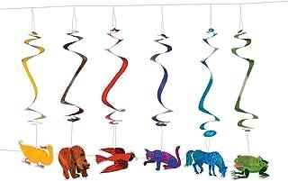 Fun Express - Brown Bear Dangling Swirls for Birthday - Party Decor - Hanging Decor - Spirals & Swirls - Birthday - 12 Pieces