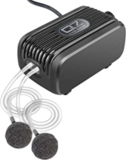 IREENUO Aquarium Air Pump, 3W Fish Tank Oxygen Pump for Fresh & Salt Water, 240 GAL/H Outlets with 2 Large Displacement Air Bubbler Stones