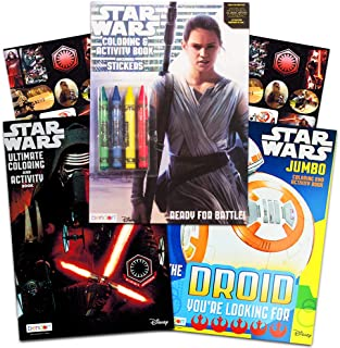 Star Wars Coloring Book Bundle ~ 3 Star Wars the Force Awakens Coloring and Activity Books Featuring Kylo Ren, Rey, Stormtroopers, BB-8, and More