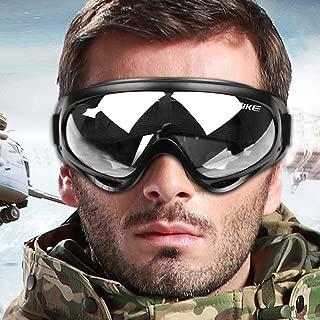 WOLFBIKE Snow Googles Windproof UV400 Motorcycle Snowmobile Ski Goggles Eyewear Anti-Fog Double Lens Big Spherical Skate Goggles