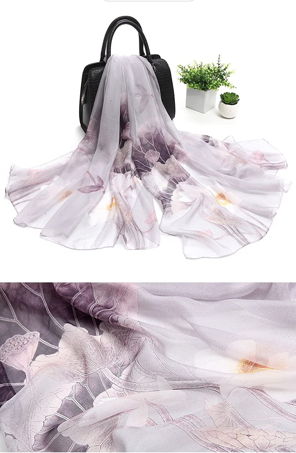 Silk Scarf Female Spring And Autumn Long Variant Shawl Silk Scarf Female Summer (Length  180Cm Width 110Cm), 10