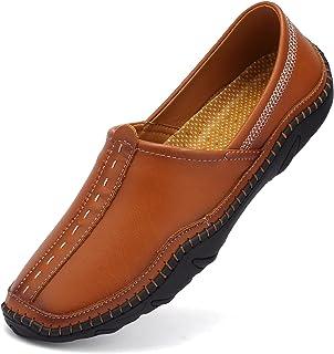 VTASQ Homme Mocassins Loafers Cuir pour Chaussures Conduire Confort Penny Loafers à Enfiler Chaussure Bateau