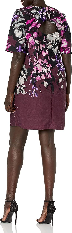 Taylor Dresses Women's Open Back Floral Dress