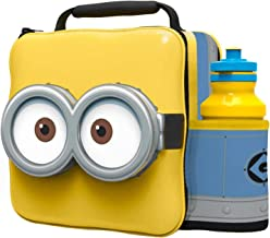 PAW Kids Children Insulated 3D Lunch Bag Box and Drink Sport Water Bottle Set (Minion)