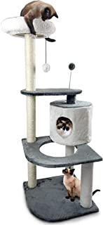 Furhaven Pet Cat Tree | Tiger Tough Cat Tree House Condo Perch Entertainment Playground Furniture for Cats & Kittens - Available in Multiple Colors & Styles (Renewed)