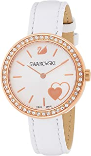 Swarovski Women's Silver Dial Leather Band Watch - 5179367