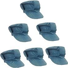 Adjustable Train Engineer Hats - Train Engineer Costume Hats (6 Pack)