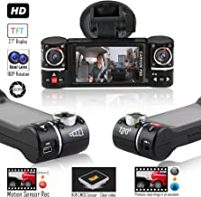 Indigi F6 2.7-inch Ultra Full HD 1080p Car Dash Cam DVR [ Motion Activation + Dual Wide Angle Lens (Front + in-Car) + File Protection ]
