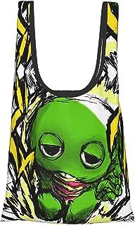Gacha-pin (2) 折叠 购物袋 环保袋 购物袋 多功能 大容量 小巧 手提包 时尚 肩背 包 口袋尺寸 携带方便 男女通用
