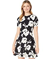 2 Tier Fit-and-Flare Dress