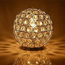 Floodoor Crystal Spherical Table Lamp Silver Decorative Bedside Desk lamp for Bedroom, Living Room, Dining Room, Kitchen