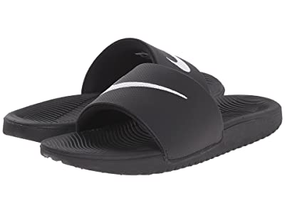 Nike Kids Kawa Slide (Little Kid/Big Kid) (Black/White) Boys Shoes