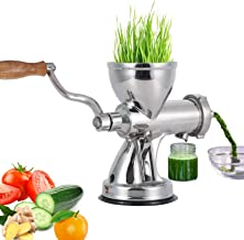 Heavy Duty Stainless Steel Wheatgrass Manual Juicer, Superb Juice Extraction with Vacuum Suction Cup Home DIY Kitchen Tool for Soft Fruit Vegetable Leafy Green