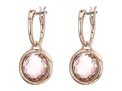 Swarovski Tahlia Mini Hoop Pierced Earrings (Pink) Earring
