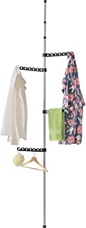 MyGift Telescopic Floor-to-Ceiling Garment Rack, Clothes Drying Hanger with 4 Adjustable Brackets