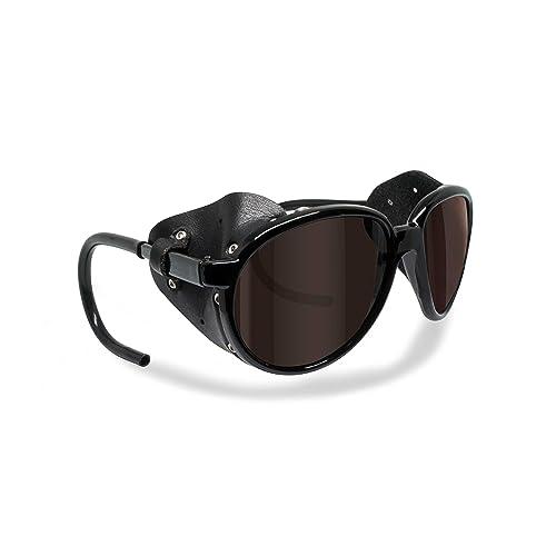 e22fef63e5 Bertoni Glacier Polarized Sunglasses for Mountain Hiking Trekking Ski mod  Cortina Italy Shiny Black