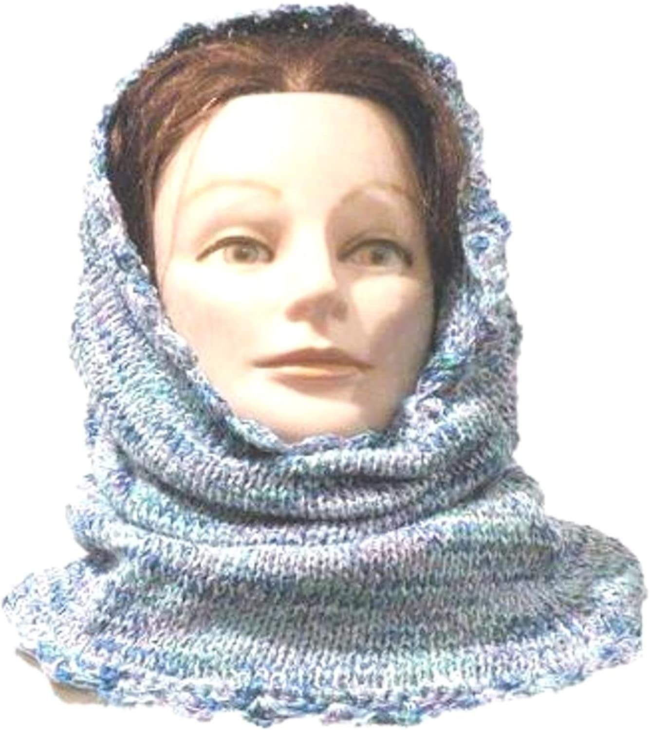 Aidan Products Knitted Crochet Finished Space Dyed Chenille Balaclava Neck Warmer Hood Scarf