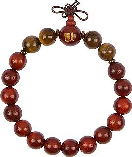 Woodies Tiger Eye and Rose Wood Bead Bracelet