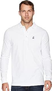 Psycho Bunny Men's Long Sleeve Polo Classic Colored Polo T Shirt