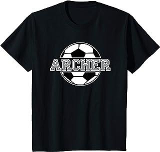 Kids Soccer Boy Archer Birthday T-Shirt Soccer Ball Kid's Name