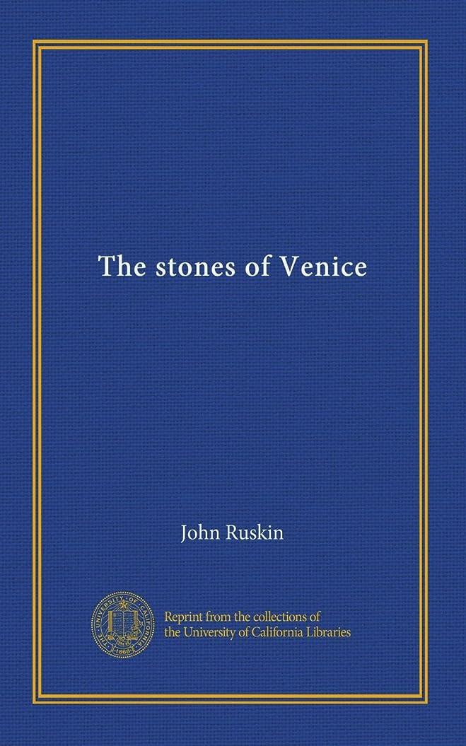 開始実業家枯れるThe stones of Venice (v.2)