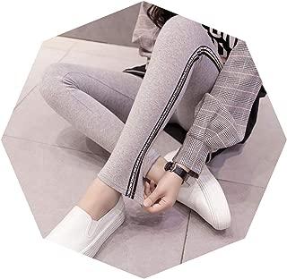 pursuit-of-self Cotton Leggings Side Stripes Women Casual Legging Pant Plus Size 5XL