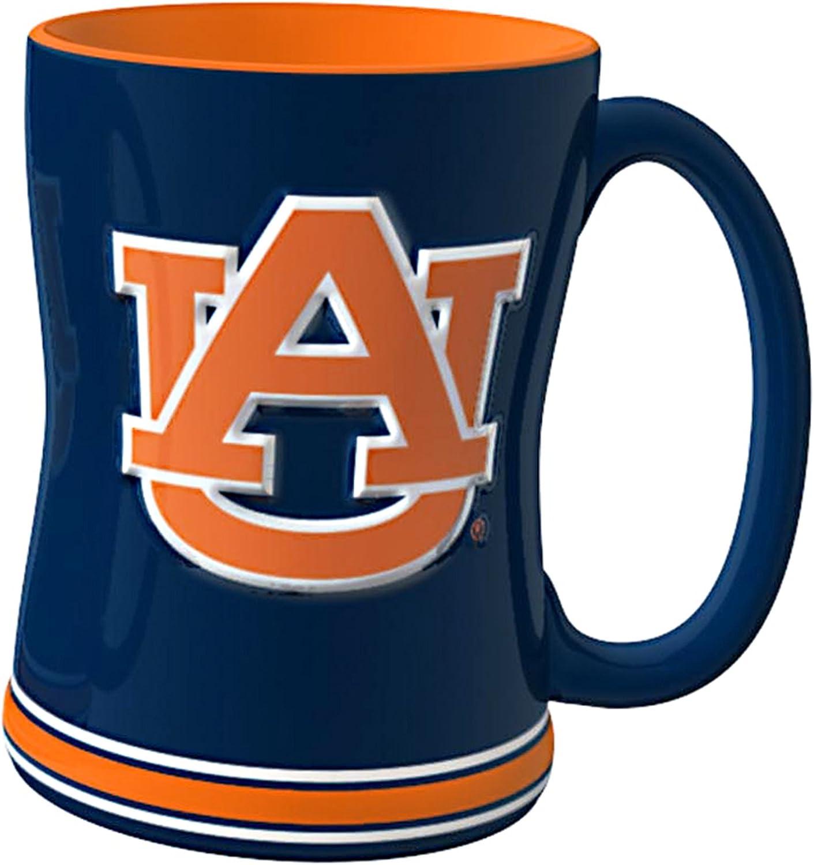NCAA Auburn Tigers Sculpted Relief Mug, 14Ounce