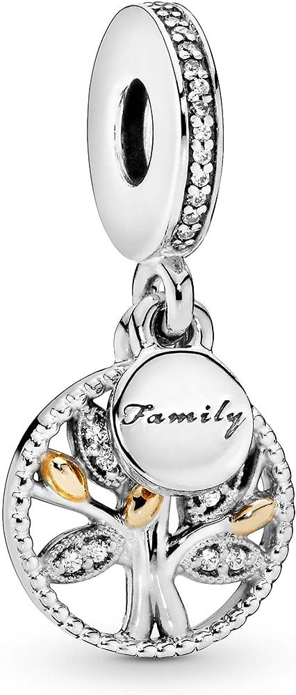 Pandora perle ciondolo argento e oro donna 791728CZ