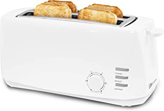 Elite Cuisine ECT-4829 Long Slot Cool Touch Toaster with Extra Wide 1.25