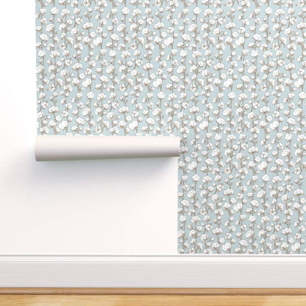 Spoonflower Pre-Pasted Removable 有名な Wallpaper Stripe Modern Stalk 18%OFF