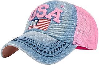 7e47c575494d3 GBSELL Women Girl Unisex American Flag Baseball Cap Snapback Hip Hop Flat  Hat