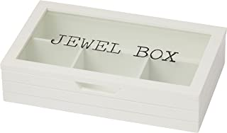 EMPORIUM HDDEE956 Sadie Jewellery Box with Compartments, White