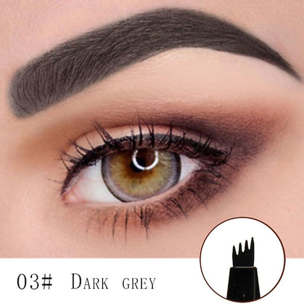 降下ガレージ章Microblading Eyebrow Tattoo Pen (DARK GREY) Micro Blade Eyebrow Tattoo Pen (Dark Gray)