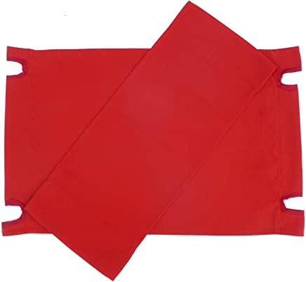 Zew Replacement UV Treated Color Durable Canvas for Bamboo Folding Directors Chairs,  Red