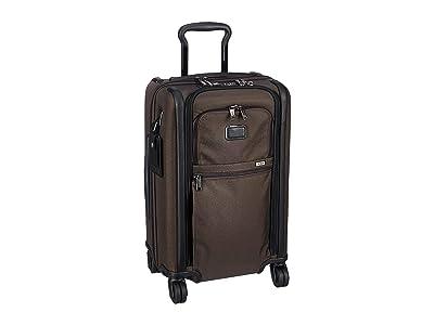 Tumi Alpha 3 International Dual Access 4 Wheeled Carry-On (Coffee) Luggage