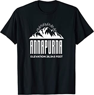 Annapurna Massif Shirt Himalayan Rock Climbing Expedition T-Shirt