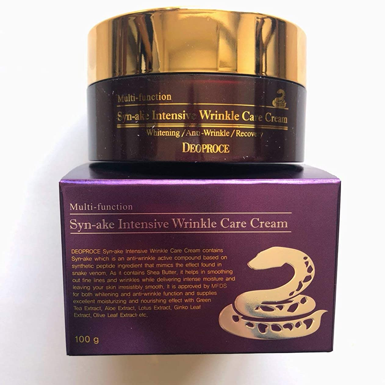 接続されたのり役に立つディオプラス(DEOPROCE) スネークインテンシブリンクルケアクリーム (Syn-ake Intensive Wrinkle Care Cream)