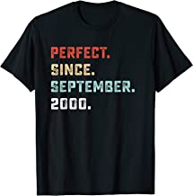 Perfect Since September 2000 Birthday Gift For 19 Yrs Old D1 T-Shirt