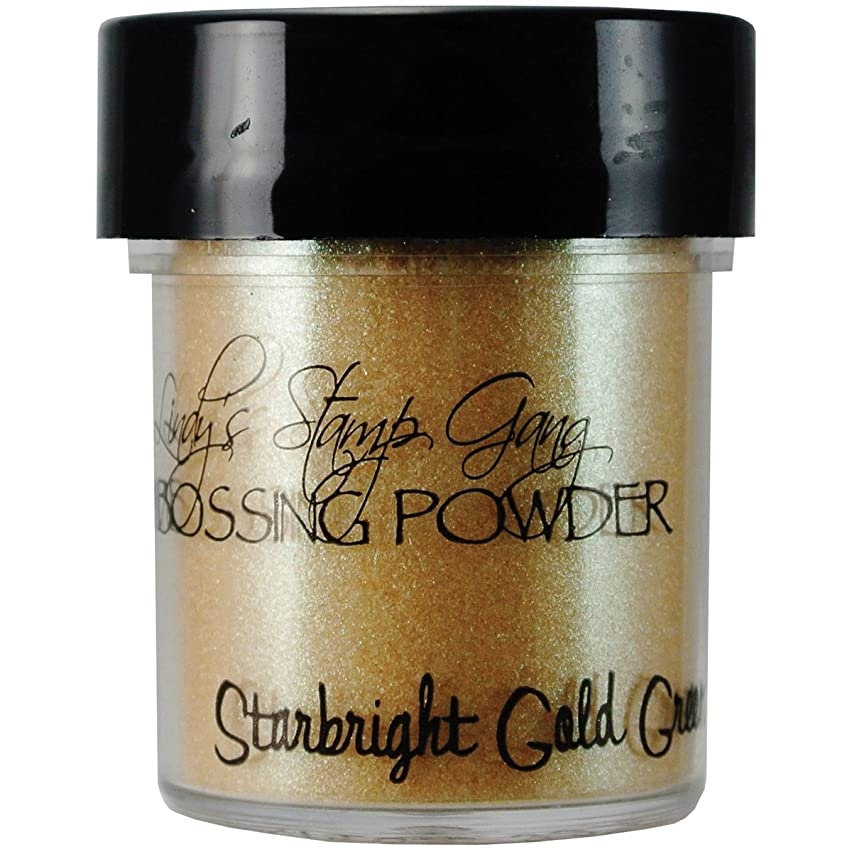 Lindy's Stamp Gang 2-Tone Embossing Powder, 0.5-Ounce Jar, Star Bright Gold Green