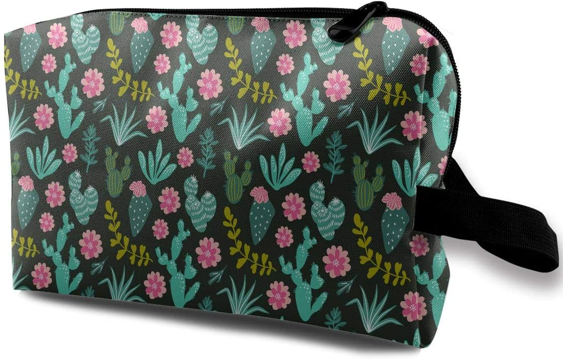 QiiRy Botanical Green Desert Flora Print Travel Fabric Max 87% OFF Portable Discount is also underway