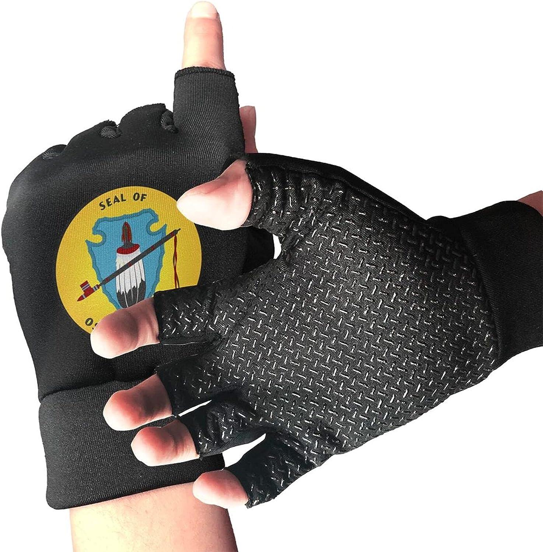 Osage Nation Non-Slip Working Gloves Breathable Sunblock Fingerless Gloves For Women Men