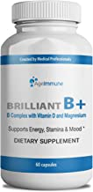 Vitamin B Supplements Complex with B6, D, Magnesium, Methylated B12 and Folate (Folic Acid). Doctor Formulated Best Quality Vitamins for Neuro and Energy Support, Stress and Depression Relief.