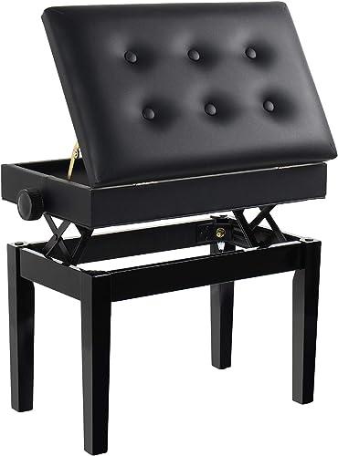 Grandma Shark Tabouret Piano, Banquette Piano Banc, Bois Piano Banquette, Coiffeuse Tabouret, Piano Tabouret avec Com...