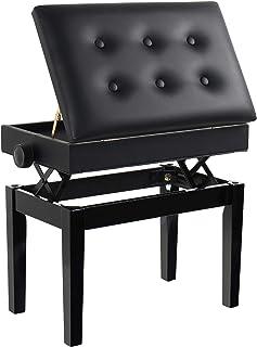 Grandma Shark Tabouret Piano, Banquette Piano Banc, Bois Piano Banquette, Coiffeuse Tabouret, Piano Tabouret avec Comparti...