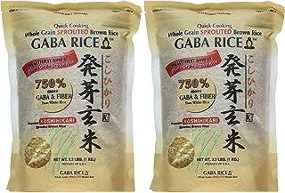 Koshihikari Premium Sprouted Brown Gaba Rice, 2.2 Pound (Pack of 4)